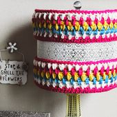 the dream crochet blog.: DIY: How To Make This Crocheted Lamp Cozy// Free Pattern!