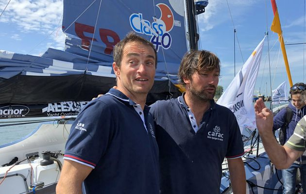 Normandie Channel Race 2018 - première réaction des seconds, le duo Carac Duc/Riou