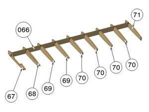 Montaje costillas en larguero principal con la ayuda de la plantilla-base