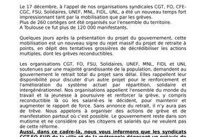 Préavis de grève intersyndicale Ville et Métropole