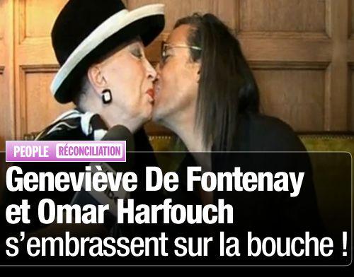Geneviève De Fontenay et Omar Harfouch s'embrassent sur la bouche !