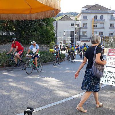 Les cyclotouristes à la Vôge Gourmande