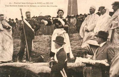 Le premier festival interceltique de 1927 à Riec-sur-Belon