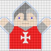 Projet Marionnette : Chevalier rouge, les grilles - Le blog de Thilde