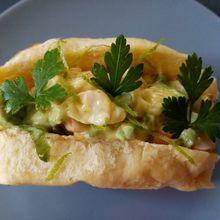 Crevettes sandwich roll et mayo curry de Cyril Lignac dans tous en cuisine