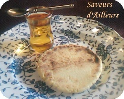 Galettes Marocaine au lait Ribot dit : HARCHA farcie au fromage frais