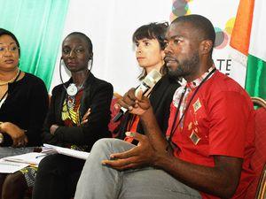Afrique et climat :  Vanessa Laubin et Bérengère Batiot de l'association CLIMATE CHANCE.