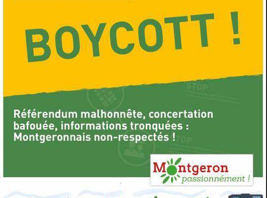 #Montgeron, refusons un PLU hors-la-loi, boycottons le référendum