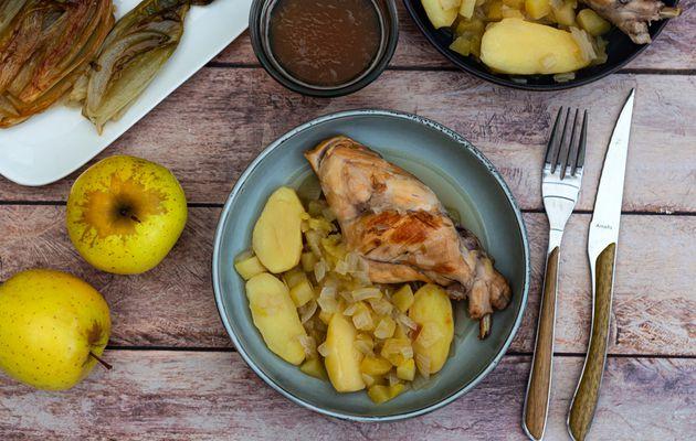 Lapin aux pommes et cidre