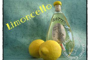 Liqueur de Limoncello, faite maison