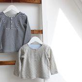 T Shirt à plastron pour bébé et enfant - Laine-et-Chiffons