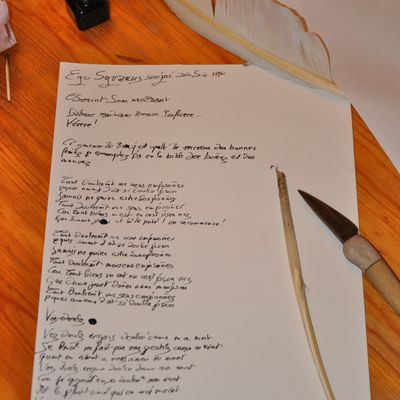 Le scriptorium : Premières tentatives...