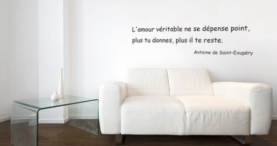 At Home - Stickers Citations famille & amour véritable ♥