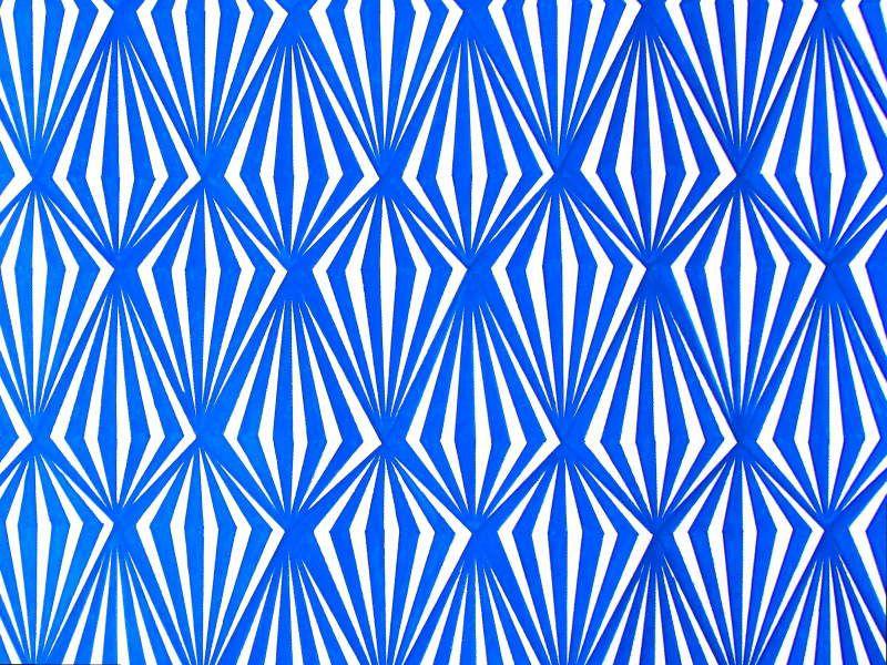 Blue diamonds - Acrylic on canvas, 200*80 cm, 2017
