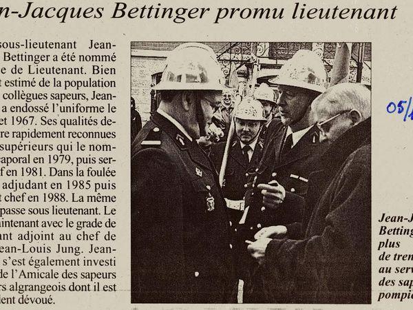 Sainte Barbe des Sapeurs Pompiers à Algrange, en 2000