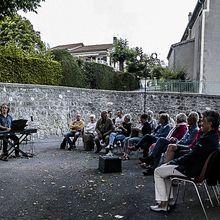 Les notes en bulle à   la Mure Argens  avec l'association Culturelle du Patrimoine de Clumanc