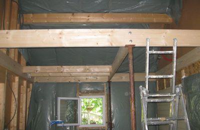 Extension maison bois : mezzanine