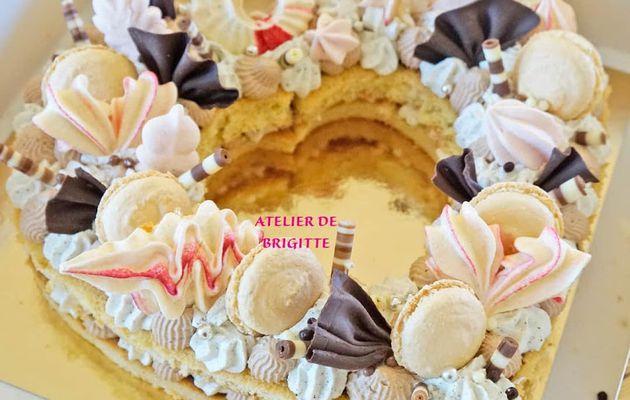 Number cake, Chocolat au lait et Vanille