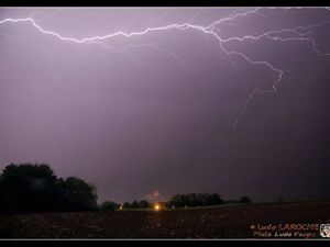 Orages pendant la nuit de samedi à dimanche Photo Frédéric Laroche