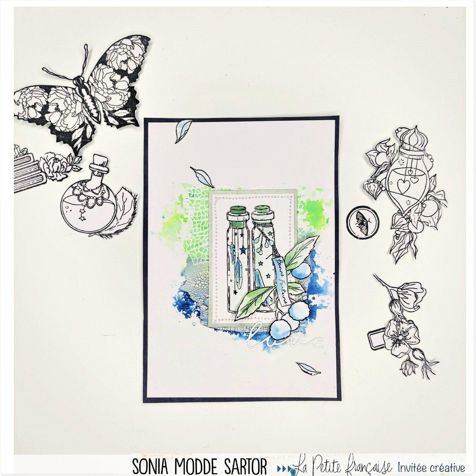 """Carte Scrap """"Bonne fortune""""_ La Petite Française"""