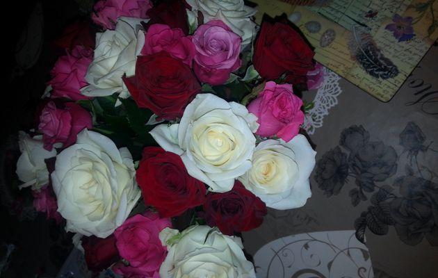 3 bouquets de roses