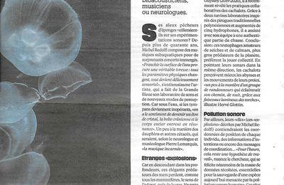 [ Presse écrite ] Cétacés, leur musique adoucit les mers (Libération, 26-27 sept. '20)