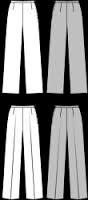 le pantalon est en faite le Patron Burda 6817 revisité !.