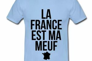 T shirt France Humour La France est ma meuf HBC