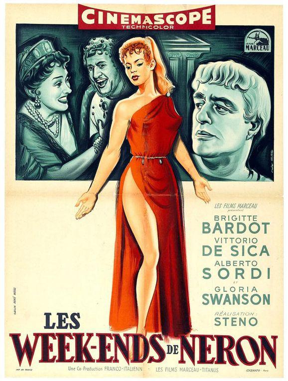 Filmographie Brigitte Bardot : Les Week-ends de Néron (Mio figlio Nerone) de 1956