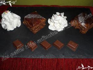 Gâteau au caramel et chocolat