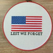 Lest We Forget Cross Stitch Pattern - Albion Gould