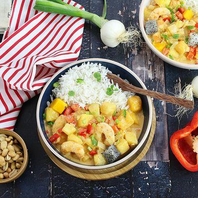 Curry de Crevettes aux Fruits Exotiques