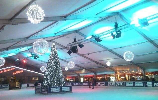Liège: la patinoire de Noël