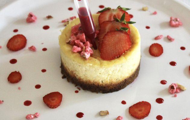 Minis cheesecakes aux pralines roses