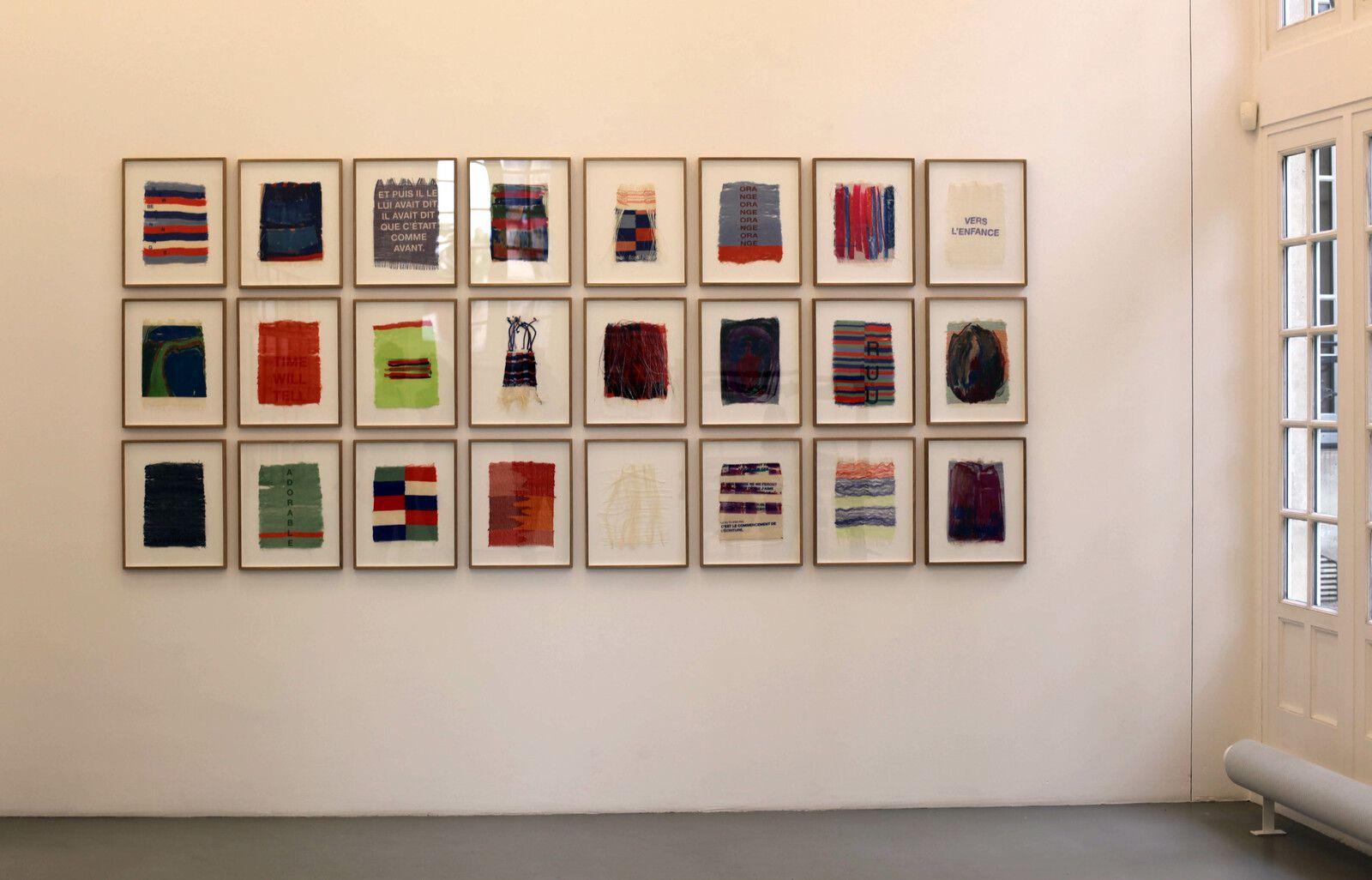 Vue de l'exposoition de Marie HAZARD -Courtesy de l'artiste et de la galerie Mitterrand © Photo Éric Simon