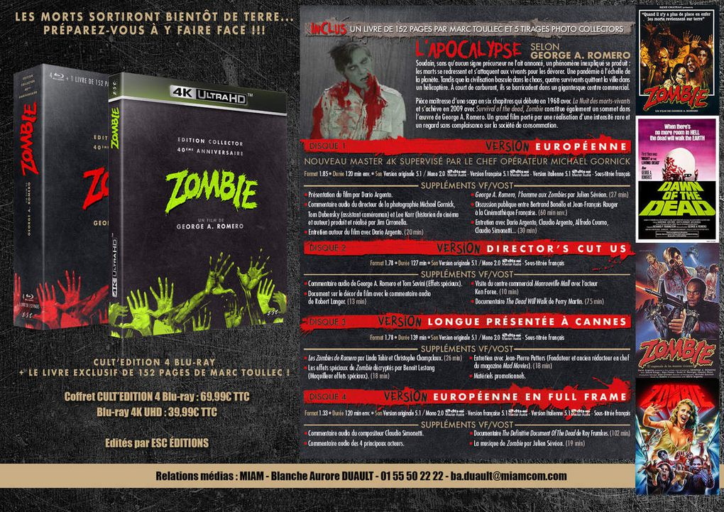 """ZOMBIE"" (1978), LE COFFRET CULT'EDITION!"