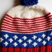 Old Glory Hat - a free knitting pattern