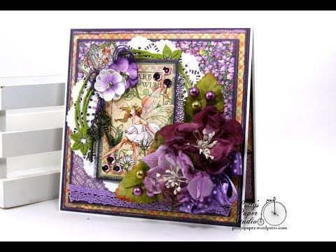 Fairy Dust Greeting Card Polly's Paper Studio Graphic 45 Vintage Tutorial Handmade Paper Crafts G45
