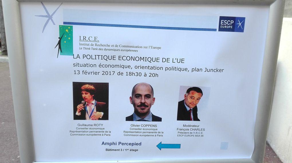 13 FEV - CONFERENCE : La politique économique de l'UE : Situation économique, orientation politique, plan Juncker