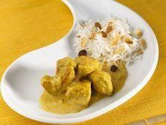 Curry d'escalope de dinde au lait de coco