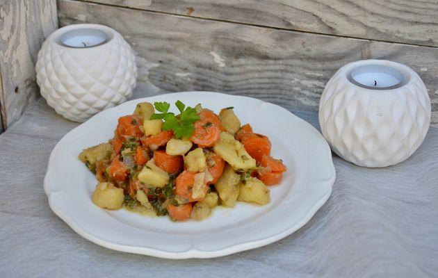 Mijoté de carottes et pommes de terre persillées