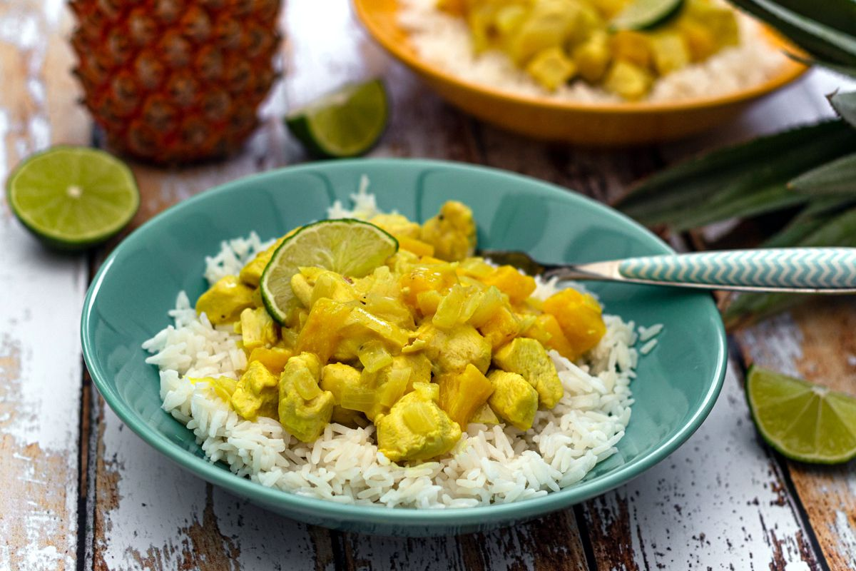 curry poulet coco ananas