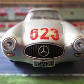 MERCEDES 300 SL 1952 COUPE MILLE MIGLIA KLING-KLENK - BANG 1/43 - car-collector.net