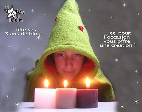La fée du lutin fête ses 3 ans de blog !
