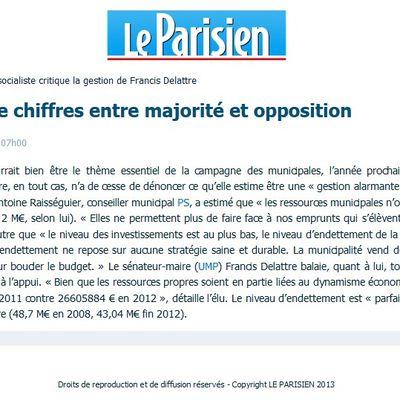 Compte administratif 2012 - DANS LA PRESSE