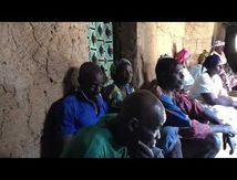 Discours et palabres du Chef du village d'Eloubaline sous la grande case impluvium