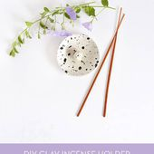 Make It: Clay Paint Splatter Incense Holder