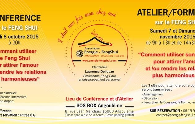 conférences et ateliers avec l'association Energie Feng Shui