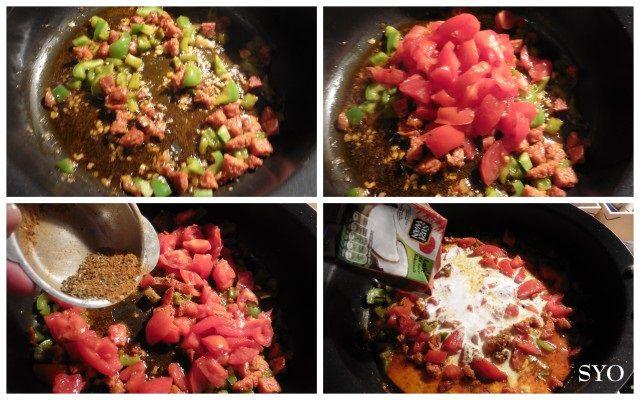 Riz Terre / Mer, moules, Chorizo, Kari Gosse du Petit Bistro