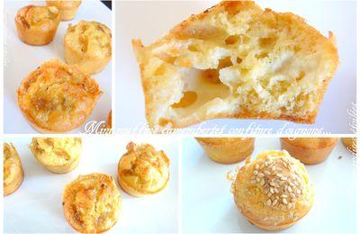 Mini muffins au camembert et confiture d'oignons...